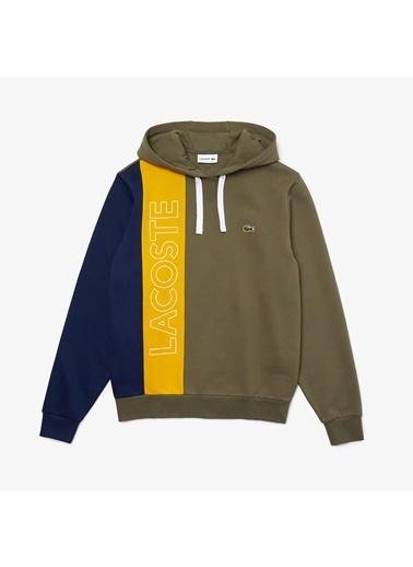 Lacoste Erkek Kapüşon Sweatshirt SH0178.XHR Renkli